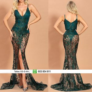 Vestido body bordado brillante